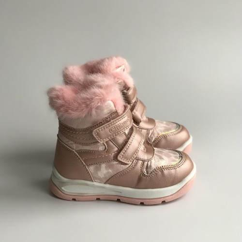 Ботинки зимние Clibee 1383 розовые